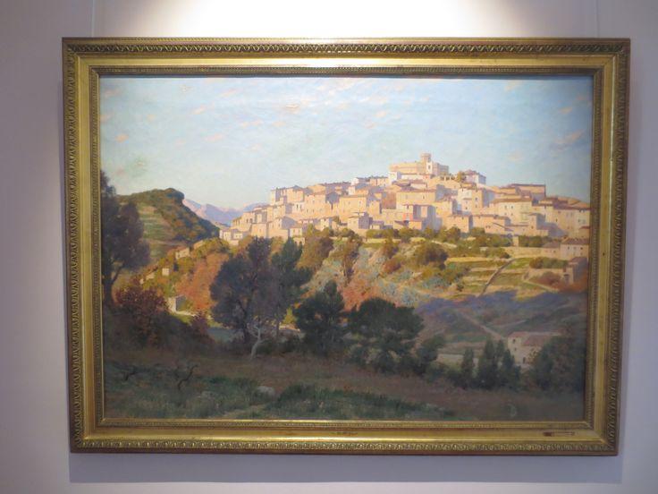 Maisemamaalaus Saint Paul de Vnecen linnoituksesta. Linnoitus on rakennettu 800-luvulla