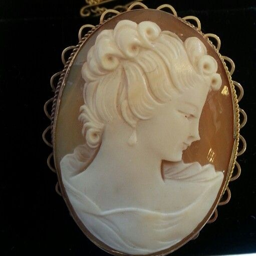 9k gold cameo late 40s.  My first cameo