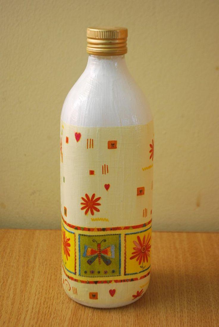 """Sticla decorativa """"Flowers"""" (10 LEI la pia792001.breslo.ro)"""