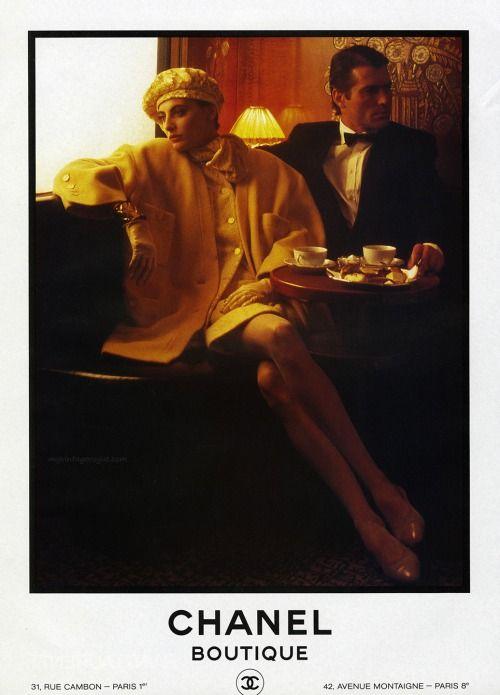 Inès de La Fressange. Chanel Boutique 1985