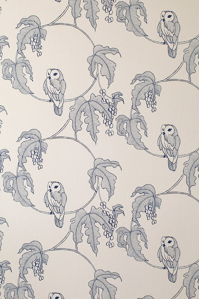 TURNER POCOCK: NEW OWL WALLPAPER BY TURNER POCOCK CAZALET