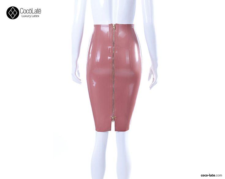 Falda de tubo con cremallera completa por CocoLateLatex en Etsy