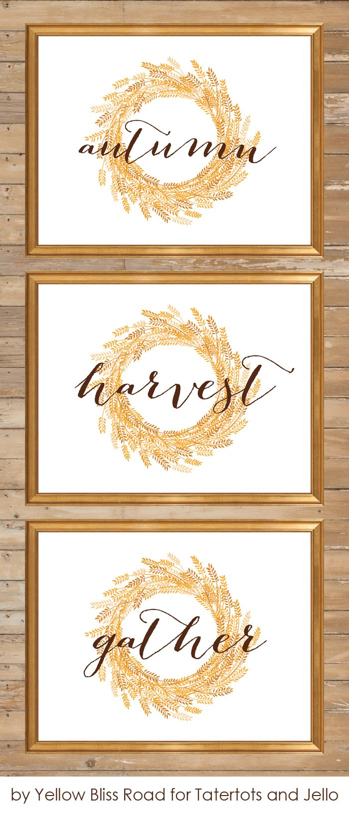 Fall Signs Free Printables by Yellow Bliss Road for TT&J!! #DIY #Falldecor