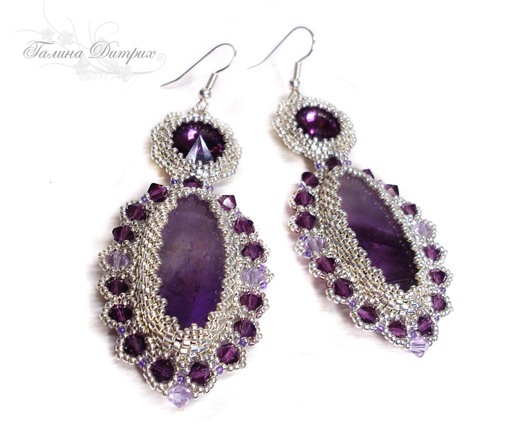 "#beadwork Accessories for Life: Серьги ""Аметистовая сказка"""
