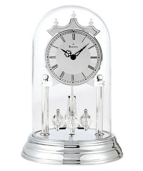 Bulova Tristan II Silver Anniversary Clock - The Bulova Tristan II Silver…