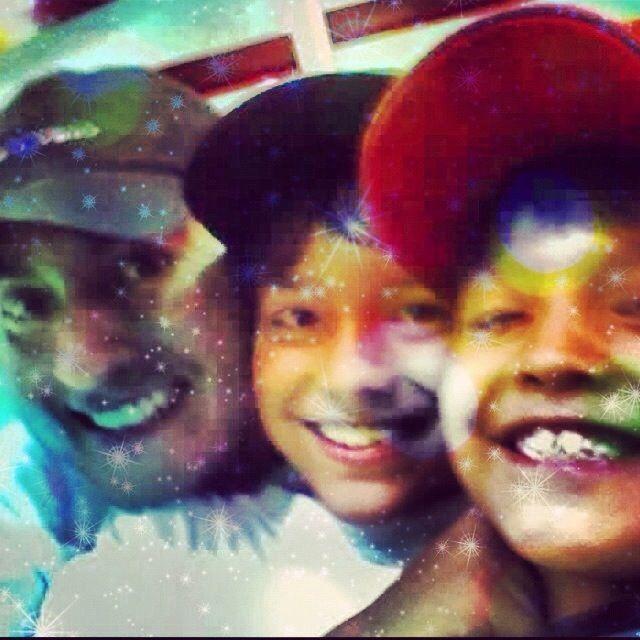 Sebastián, David y yo