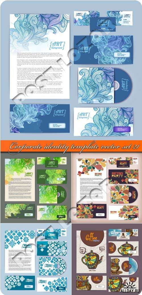 Корпоративный стиль 21 | Corporate identity template vector set 21
