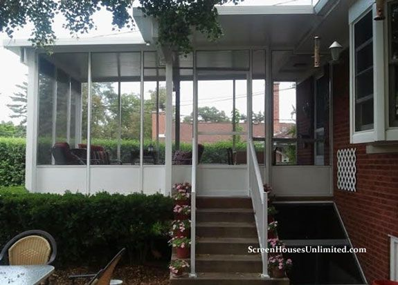 hard top screen porch enclosure by screenhousesunlimited.com