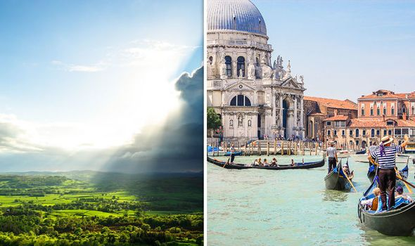 #UK #weather: Hotter than #VENICE as #mercury rockets to double digits despite #FLOOD warnings