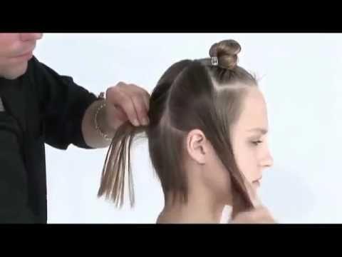 Короткая женская стрижка для начинающих. Парикмахер - YouTube