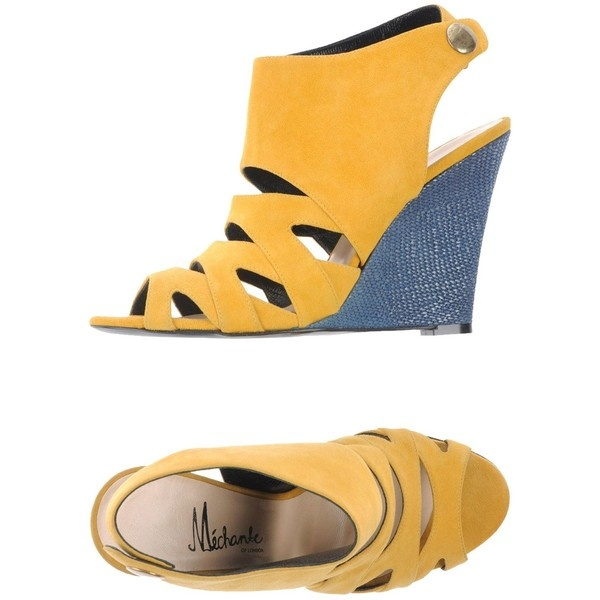 MÉCHANTE OF LONDON for WILLIAM TEMPEST Wedge ($178) ❤ liked on Polyvore