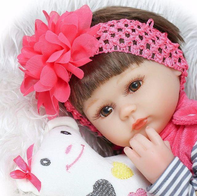 Bebe reborn de Silicone realista 42 cm Boneca Reborn Bebê crianças Playmate brinquedos de Presente Para Meninas ano novo boneca corpo mole renascido em Bonecas de Brinquedos Hobbies & no AliExpress.com | Alibaba Group