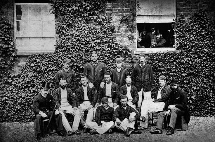The Australian cricket team which beat England in a one-off test match at the Kennington Oval in London on 29 August 1882. The unexpected victory by the team from the colonies began one of cricket's most celebrated rivalries. Back row (left-right); H H Massie, G J Bonner, S P Jones, F R Spofforth. Middle row; C W Beal (manager), J M Blackham, G Giffen, W L Murdoch, A C Bannerman, P S MacDonnell, H F Boyle. Front row; G E Palmer and T W Garrett