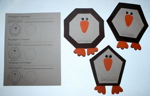 7 pages.  a pentagon penguin as well as a hexagon and octagon one.  also included is an extra page for the easy reader booklet featuring these new birds.
