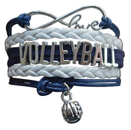 This Sportybella Girls Volleyball Jewelry Bracelet is a beautiful and fun way to express your love of Volleyball. This makes a Perfect gift for Volleyball Teams, Volleyball Players & Volleyball Coaches. Details of Bracelet: Volleyball Team Colors: White & Blue Size: Volleyball bracelets are adjustable, 6-8 Inches Adjustable Length Material: Leather and wax cords with antique silver alloy …