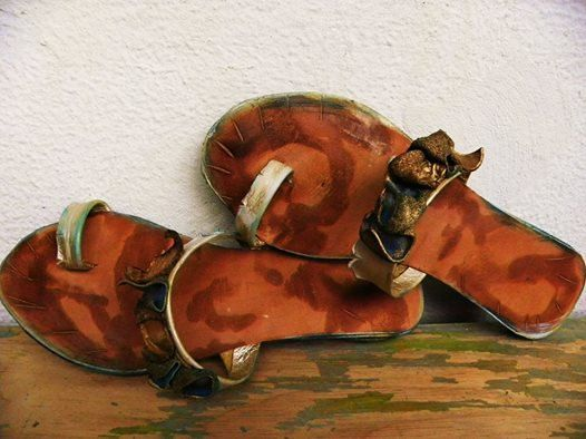 Santorini1 Hand-made Leather Sandal  Greek by GreekSandalsMelahris