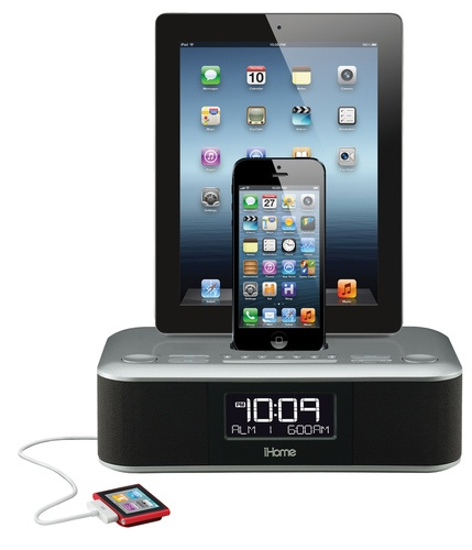 iDL100 iHome Clock Radio and Dock with the new lightning connector in the new Apple IOS iPhone 5 and iPads