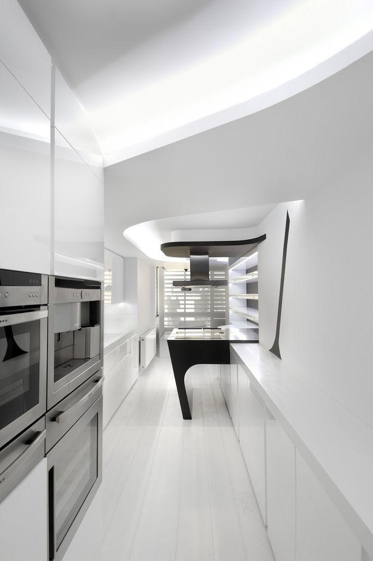 affordable la cocina equipada con neff tiene una disposicin alargada fue diseada por with mesa de trabajo para cocina