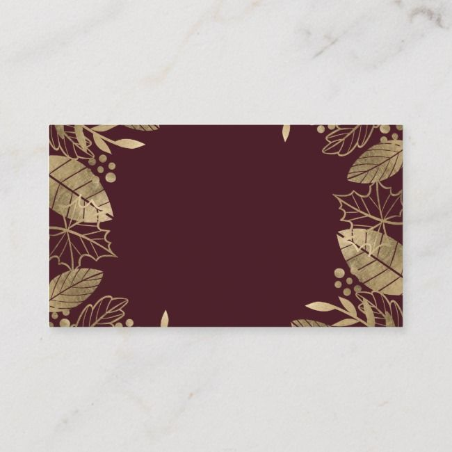 Goldblätter fallen schicke rote Hochzeitsregister-Einschließungskarte | Zazzle   – Modern Card