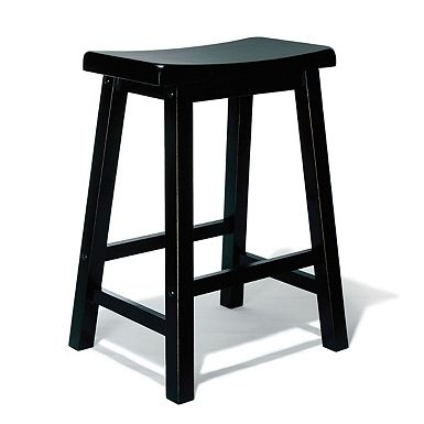 * Kirklands-Antique Black Counter Stool