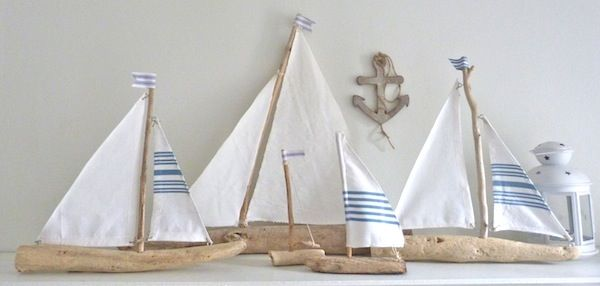 driftwood sailboats for kids room decor