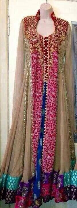 Shab Shiraz Exclusive Bridal Wear Collection 2014 for Women 7 I would change the beige/brown to blue or purple