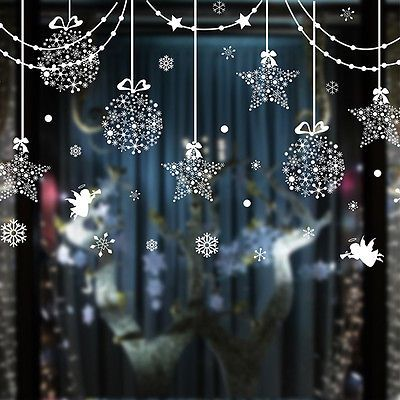 Christmas Snowflake Ball Show Window Removable Home Vinyl Sticker Decal Decor