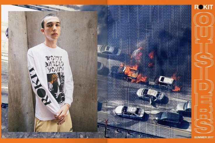 """Movida pela energia e pelo poder de questionamento da juventude ROKIT apresenta a coleção """"Outsiders"""".   #ROKIT #Streetwear"""