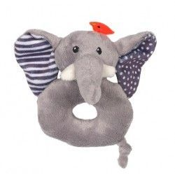 Zoocchini Baby Rattle - Soft and colourful, this rattle will make your baby smile.