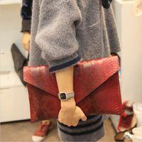 2015 novas bolsas de grife de alta qualidade saco senhoras mulher Serpentine sacos Envelope vermelho de noite cadeia de embreagem bolsa de ombro feminino
