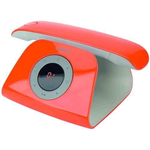 Logicom Rétro répondeur orange :  Un téléphone moderne au look rétro-futuriste !
