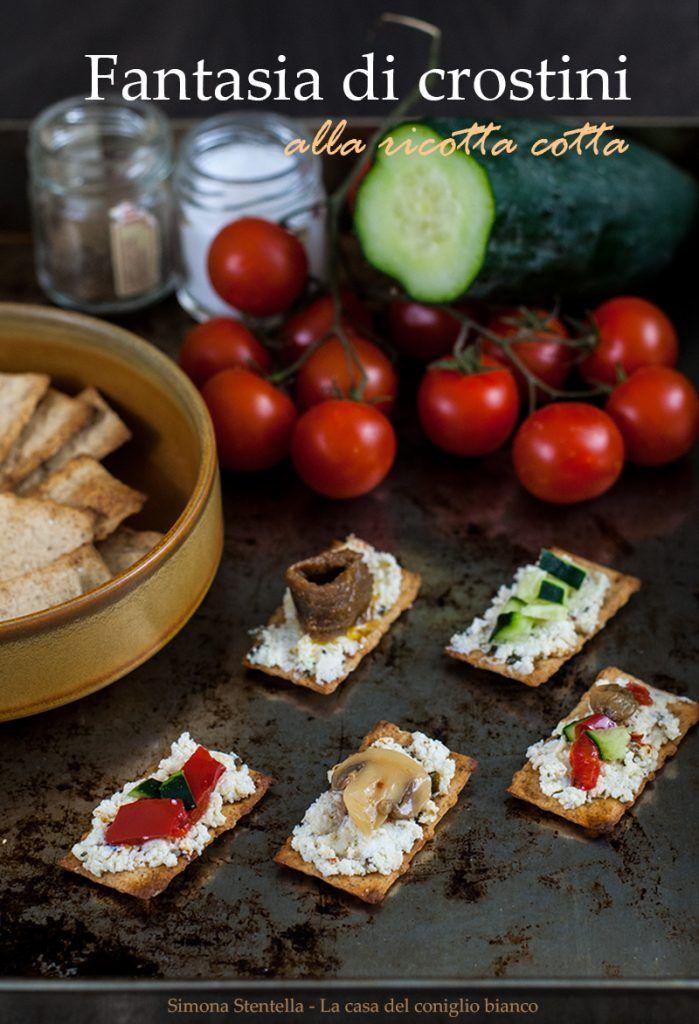 Fantasie di crostini | Crostini baked ricotta cheese | La casa del coniglio bianco