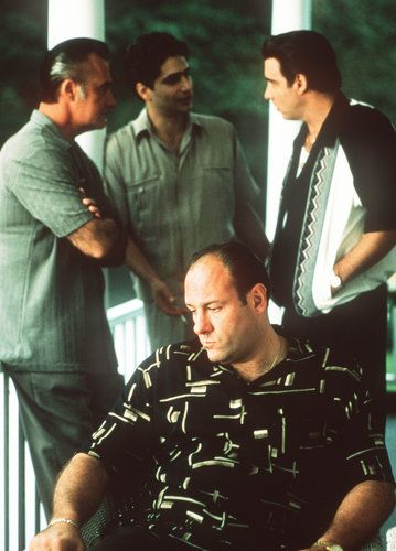 "james gandolfini, tony sirico, michael imperioli and steven van zandt in ""the sopranos"""