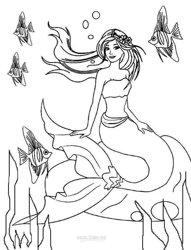 Barbie Mermaid Princess Coloring Pages 1 Mermaid Coloring Pages Barbie Coloring Princess Coloring Pages