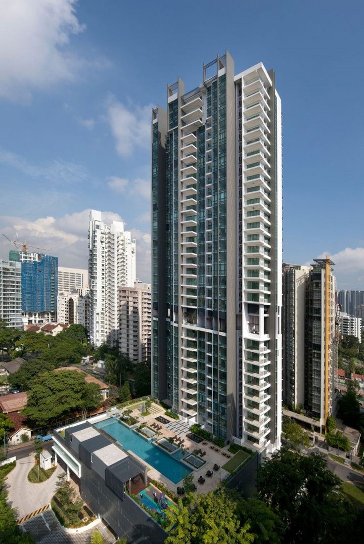 Architecture Exterior: Montebleu With Luxury High-rise In Singapore
