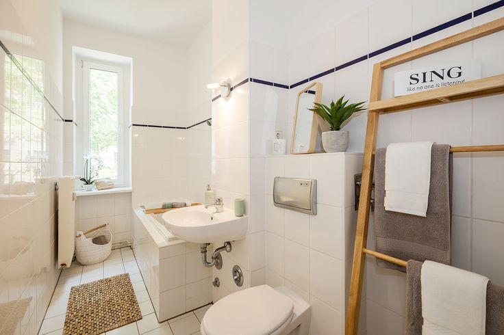 Die geräumigen Badezimmer bieten viel Komfort.