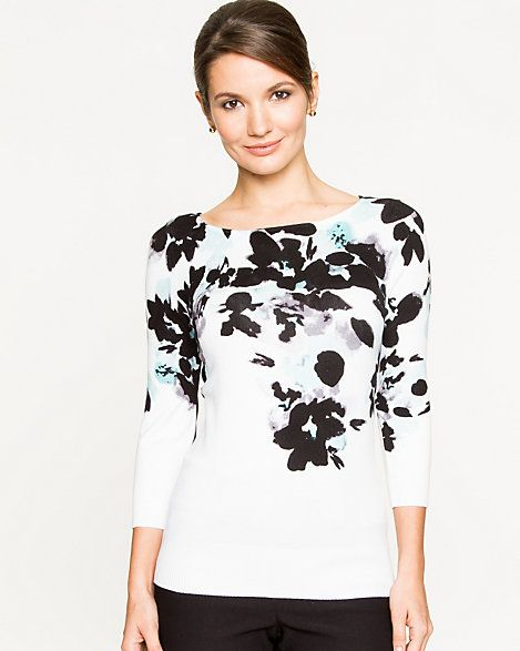 The black floral print on this shirt like the Chinese black and white painting.