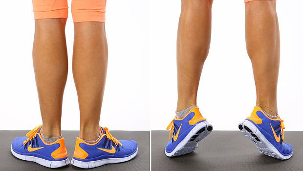 Calf Raise  - Learning The Best Exercises To Slim Hips & Thighs At Home