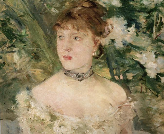 Jeune femme en toilette de bal - Berthe Morisot - 1879.