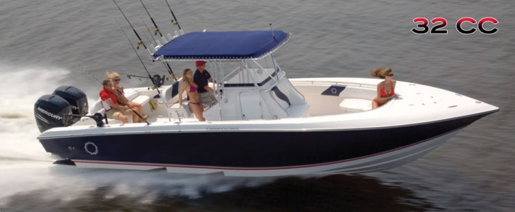 New 2012 Fountain Boats 32 Center Console Express Fisherman Boat - In Action.