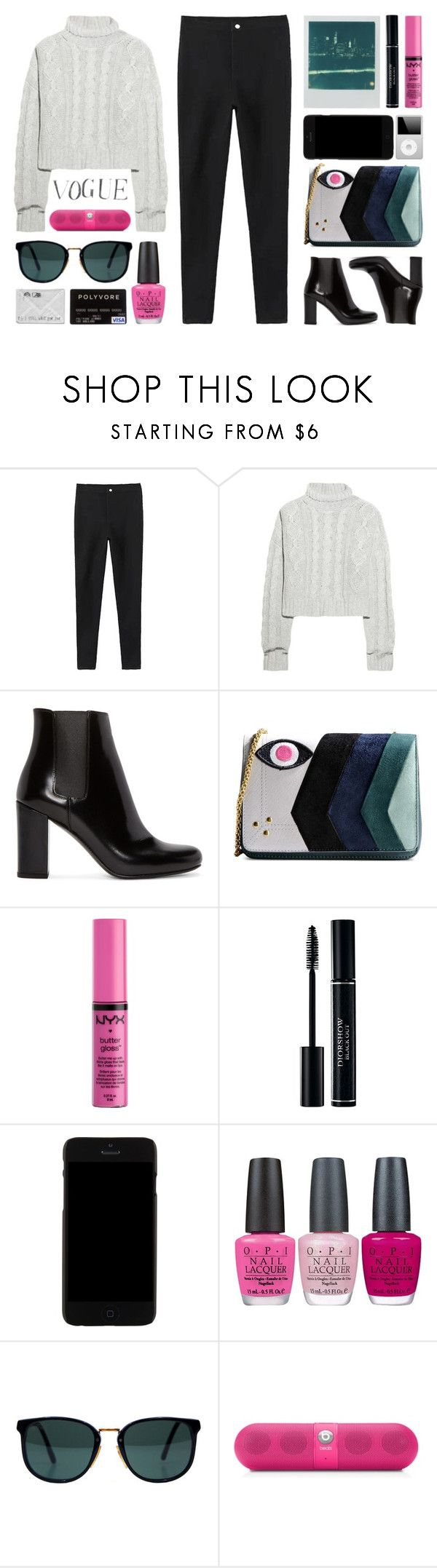"""//You can't make your heart feel something it won't//"" by the-key-to-my-heart ❤ liked on Polyvore featuring Polaroid, Bamford, Yves Saint Laurent, Jérôme Dreyfuss, NYX, Kenzo, OPI, Ray-Ban and Beats by Dr. Dre"