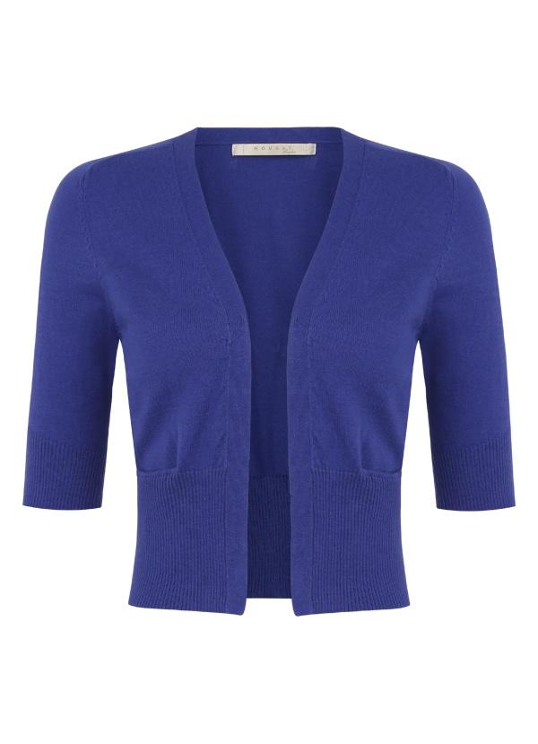 Cropped Cotton Cardigan in Bright Crocus