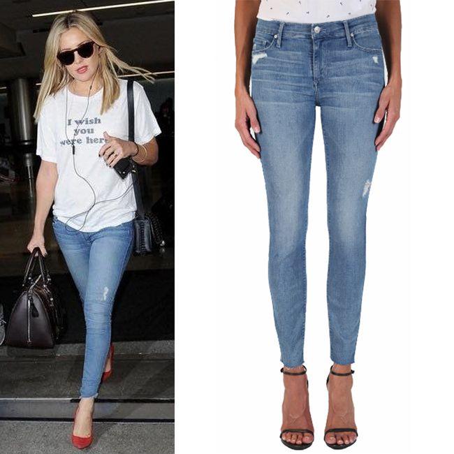 Кейт Хадсон была замечена в зауженных джинсах Black Orchid. И не мудрено, ведь они такого красивого голубого цвета! Подобрать такие же вы сможете в JiST, теперь со скидкой. #fashionable #fall #outfitidea: #stylish #KateHudson looks #chic in #BlackOrchid #jeans  #мода #стиль #тренды #джинсы #селебрити #звезды #модно #стильно