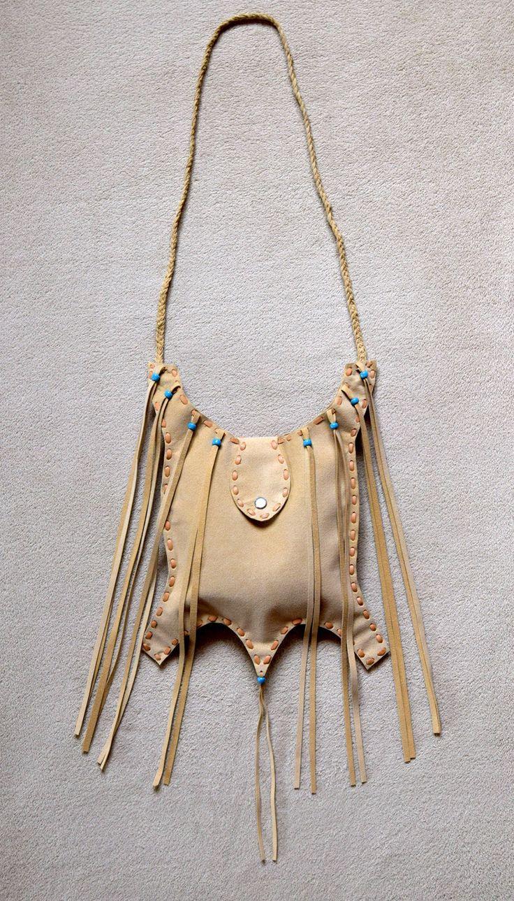 Sac de chaman amérindien entièrement réalisé à la main - Création unique : Sacs bandoulière par art-decor-nature