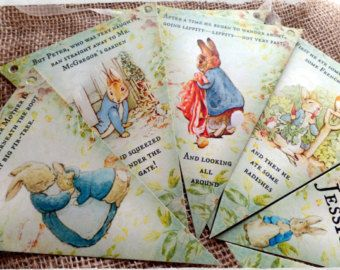 3m personalizados Peter Rabbit de Beatrix Potter empavesado/Banner para cualquier ocasión