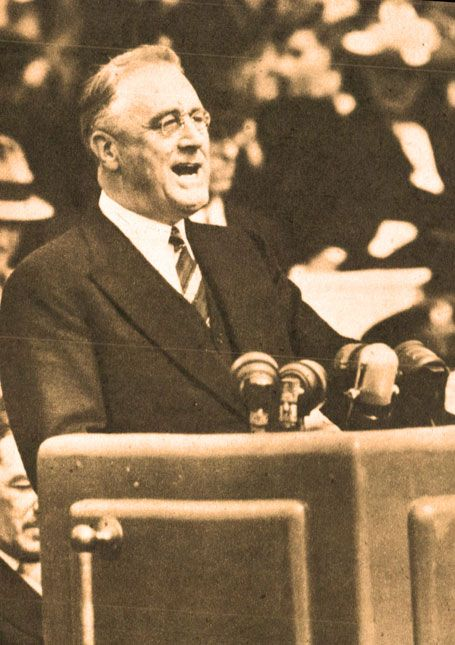roosevelt chat This is a sound recording of president franklin roosevelt's fireside chat on national security in which he said: 'there can be no appeasement with.