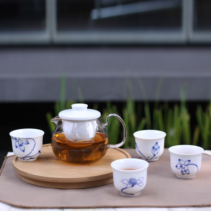 Zhe household goods ZENS genuine hand-painted porcelain blue and white fish bearing ceramic tea grade Business Gift Set