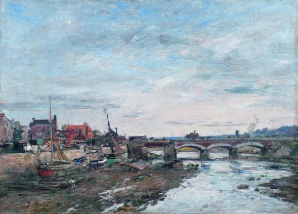 Bridge over the Touques at Trouville | Eugène Boudin [1881]