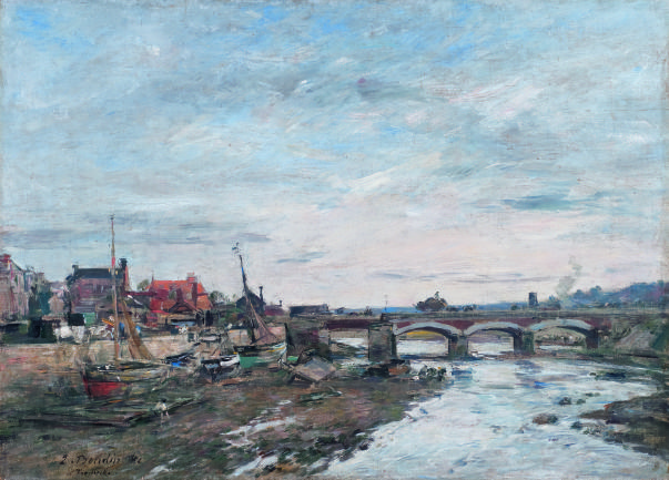 Bridge over the Touques at Trouville | Eugène Boudin [1881]