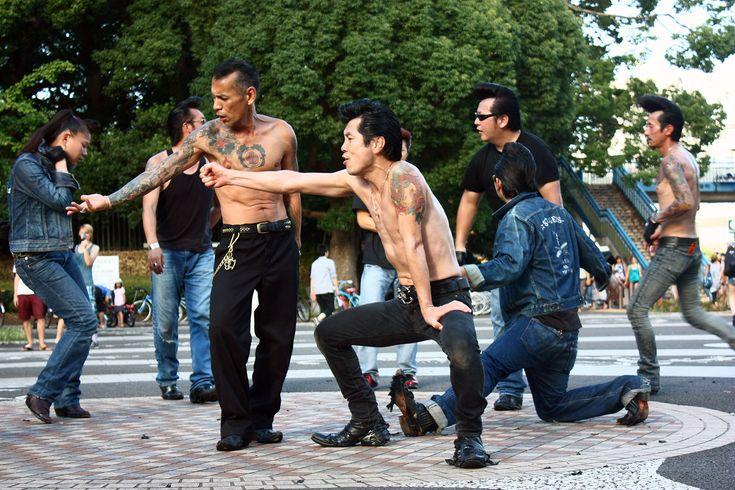 Rockabilly dancers in Yoyogi Park, Shibuya, Tokyo